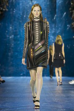 Mary Katrantzou presented her own version of folklore with her label's spring-summer 2016 shown during day 3 of London Fashion Week. Citing inspiration from the… Fall Winter 2015, Spring Summer 2016, Autumn Summer, Future Trends, Mary Katrantzou, Who What Wear, Fashion Brands, Ready To Wear, Punk