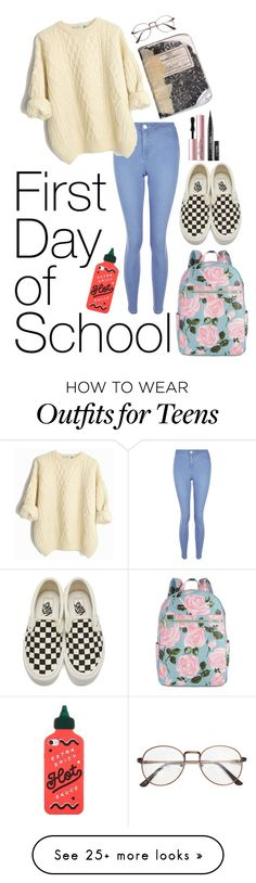 """""""Simple"""" by doogenfly on Polyvore featuring New Look, ban.do, Vans and Too Faced Cosmetics"""