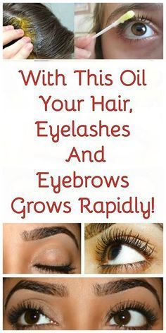With This Oil Your Hair, Eyelashes And Eyebrows Grows Rapidly!