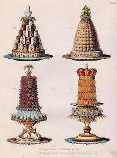 Retro Recipes, Vintage Recipes, Vintage Cooking, Vintage Food, Vintage Ads, Victorian Cakes, Food Sculpture, Victorian Kitchen, French Food
