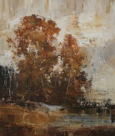 """Golden Trees by Simon Addyman Oil ~ 60"""" x 48"""""""
