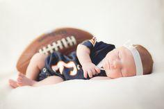 Newborn photography sports football bears
