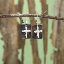 Christian Necklace & Earring Set - Rustic Faith