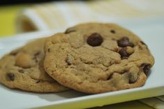 """Brown Butter Chocolate Chip Cookies!  Taste kind of """"carmelly"""" with the brown butter"""