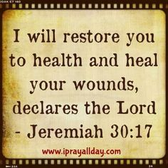 "Prayers For Healing:""Release your faith today for divine healing in Jesus name""♥️ Healing Scriptures, Prayers For Healing, Prayer Scriptures, Faith Prayer, Prayer Quotes, Bible Verses Quotes, Faith In God, Faith Quotes, Healing Prayer"