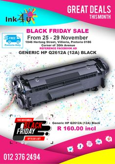 Get to and save up to on your printing cartridges and toners! Printer Cartridge, Black Friday Specials, Brother Printers, Hp Printer, Pretoria, Printing, Ink, Ink Art
