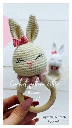 Crochet Monkey Pattern, Newborn Crochet Patterns, Crochet Rabbit, Plush Pattern, Crochet Patterns Amigurumi, Cute Crochet, Crochet For Kids, Crochet Toys, Crochet Ideas