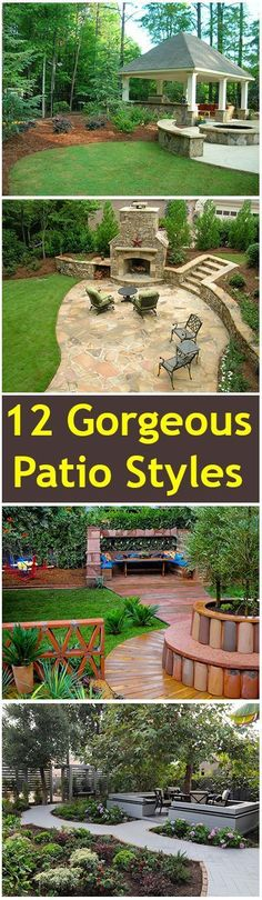 12 Gorgeous Patio Styles- Amazing patios styles, designs and ideas. Garden, ideas. pation, backyard, diy, vegetable, flower, herb, container, pallet, cottage, secret, outdoor, cool, for beginners, indoor, balcony, creative, country, countyard, veggie, cheap, design, lanscape, decking, home, decoration, beautifull, terrace, plants, house.