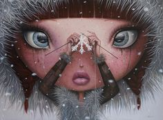 You'll never melt on me again  oil painting by Adrian Borda http://adrianborda.com/