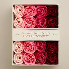 One of my favorite discoveries at WorldMarket.com: Floral Bouquet Soap Petals, 20-Piece