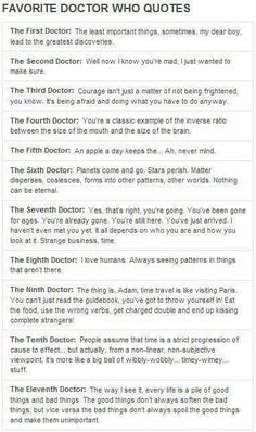 Quotes from every Doctor