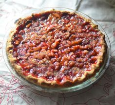 A Lost Past Remembered Recipe for Rhubarb Pie featuring Ginger and Rose Chef's Essences