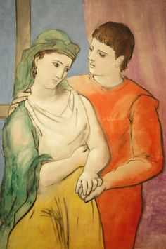 Pablo Picasso.  The Lovers, 1923.