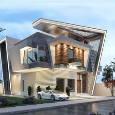 Home luxury exterior 21 Ideas for 2019 Modern Exterior House Designs, Modern Villa Design, Bungalow Exterior, Exterior Design, House Architecture Styles, Modern Architecture Design, Bungalow House Design, House Front Design, Architectural House Plans