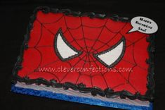Spiderman Face on Cake Central