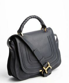 style #329401901 black leather 'Marcie' convertible tote