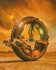 Art featuring all things futuristic. Whether it's retro or advanced technology, utopian cityscapes or ruined warscapes, if there's a Sci-Fi. Futuristic Motorcycle, Futuristic Art, Science Fiction Kunst, Steampunk, Cyberpunk Art, Retro Futurism, Sci Fi Fantasy, Sci Fi Art, Dieselpunk