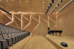 Image 1 of 42 from gallery of Florence Culture and Art Exchange Centre / penda. Photograph by Zhi Xia Auditorium Design, Auditorium Architecture, Theater Architecture, Architecture Design, University Architecture, Theatre Design, Hall Design, Church Design, At Home Movie Theater