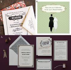 Gatsby / 1920s themed wedding invitations