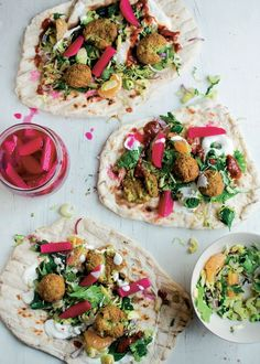 Falafel with winter slaw and yogurt recipe from The Natural Cook by Tom Hunt | Cooked