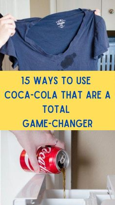 Household Cleaning Tips, Cleaning Hacks, Cleaning Products, Cleaning Items, Cleaning Solutions, Coca Cola Can, Grease Stains, Funny Messages, Everyday Items