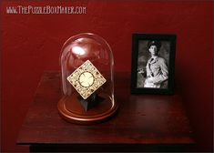 Hellraiser Puzzle Box Set - With Glass Dome, Stand, Photo