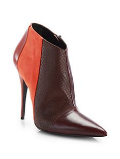 Narciso Rodriguez - Sarah Mixed Media Leather & Suede Ankle Boots