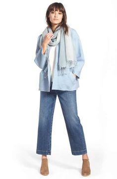 Eileen Fisher Jacket, Scarf & Crop Jeans