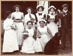 Edwardian Servants party  my relatives because we could never be to the manor born