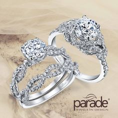 Delicate yet dynamic. Which one would you choose?   Parade Design - Available at Amour Jewellers.   www.ParadeDesign.com  Please Like, Comment and Share.