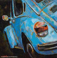 Susie Cipolla Heading Out 8 x 8 Carros Vw, Volkswagen, Art Gallery, Galerie D'art, Automotive Art, Automotive Locksmith, Arte Pop, Old Trucks, Art Cars