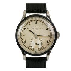 1940s Stainless Steel Calatrava Wristwatch Ref 570 by PATEK PHILIPPE