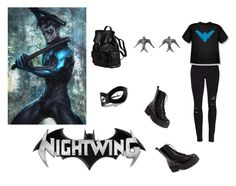 Nightwing by captain-jordan-808 on Polyvore featuring polyvore and art