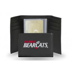 Cincinnati Bearcats Team Embroidered Leather Trifold/Wallet