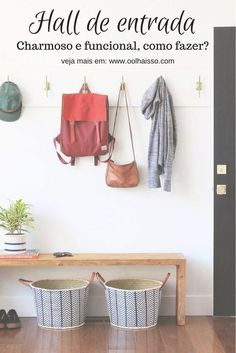 80 Modern Farmhouse Mudroom Entryway Ideas - Page 6 of 79 - Decorating Ideas - Home Decor Ideas and Tips Entryway Hooks, Entryway Organization, Entryway Decor, Entryway Storage, Organized Entryway, Apartment Entryway, Modern Entryway, Organization Ideas, Entryway Lighting