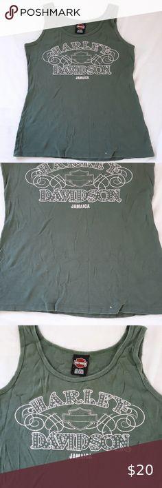 NWT Harley Davidson Mens Green Pepper Marled Legend Eagle Tee T Shirt