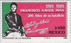 Francisco Xavier Mina, 200 años de su natalicio Francisco Xavier Mina 1989 México