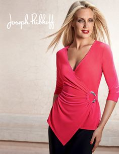 Such a flattering piece! Love this one! Joseph Ribkoff