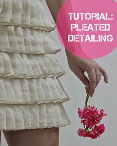Tutorial: Pleated Detailing + Giveaway Winner - JuliaBobbin