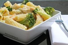 Restaurant Style Chicken Broccoli Ziti - I think the best part about this recipe is how the chicken is cooked, but anything with butter *and* some heavy cream can't be all that bad, can it?
