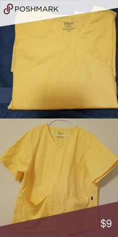 Tafford scrub top Yellow xlg but is like a 2 xl..nice shape, barely worn. Tafford Other