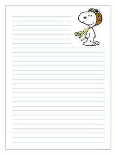 PAPEL DE CARTA: Snoopy