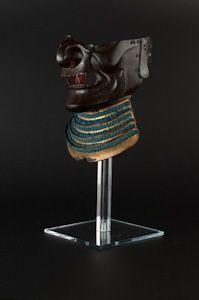 Japanese Mempo/Menpo Samurai Mask - Gold Lame (1600 - 1720)