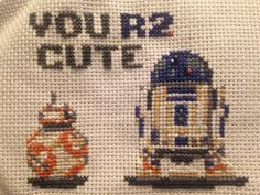Point de Croix - Cross stitch Star Wars, BB8, R2D2