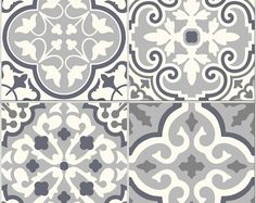 Tile Stickers Vinyl Decal WATERPROOF REMOVABLE for kitchen bath WAL floor or stair : Bmix6