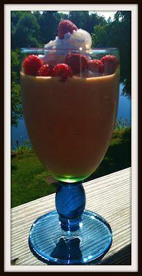Raspberry Green tea summer smoothie