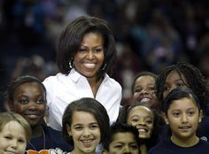 First Lady Of The United States  #MichelleObama  Central Intercollegiate Athletic Associate Basketball Tournament In Charlotte North Carolina March 2, 2012 The CIAA mostly consisting of historically black colleges and universities