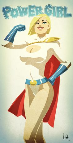 Cool Series of DC Comics Female Superhero Character Art - News - GeekTyrant (Power Girl) Marvel Comics, Comics Anime, Bd Comics, Comics Girls, Marvel Girls, Female Superhero, Superhero Characters, Dc Comics Characters, Comic Book Heroes