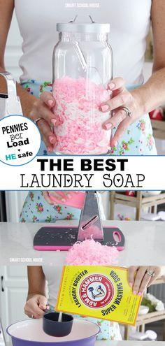 This Homemade Laundry Detergent Recipe is super simple and saves! money Find out how to make your own, DIY laundry detergent today! The BEST SMELLING homemade laundry detergent recipe! Laundry Detergent Recipe, Powder Laundry Detergent, Homemade Laundry Detergent, Borax Laundry, Homemade Cleaning Supplies, Diy Cleaning Products, Cleaning Hacks, Household Products, Household Tips