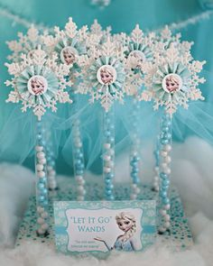 12 ELSA Inspired Party Favor Candy Wands by CelebrationSmiles